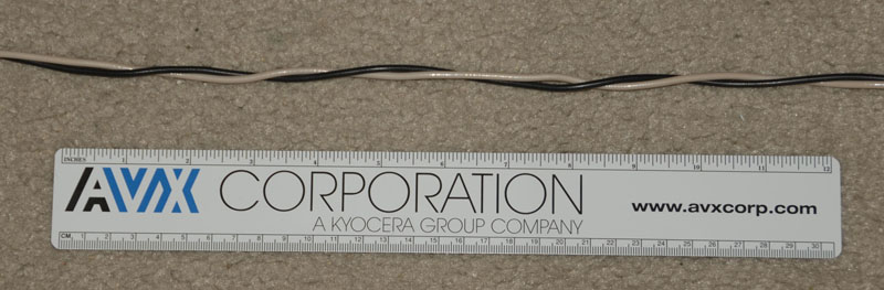 Section on track and wire a twisted pair of 12 awg solid with 35 twists per foot greentooth Images