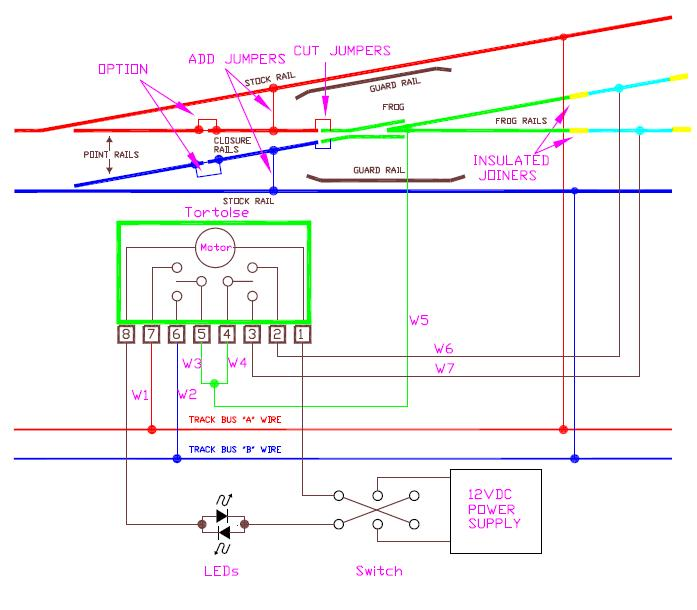 turnouts Speaker Crossovers Circuit Diagrams at Turnout Crossover Wiring Diagram Turnout
